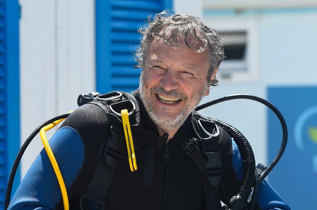 Ocean Reef CEO Sergio Gamberini, head of Nemo's Garden project, pictured in Noli (AFP Photo/Olivier Morin)
