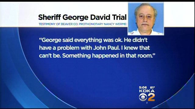Prosecution Rests In Beaver Co. Sheriff's Trial
