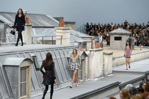 Image result for chanel show paris fashion week rooftop scenes