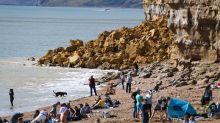 Cliff fall on Jurassic Coast