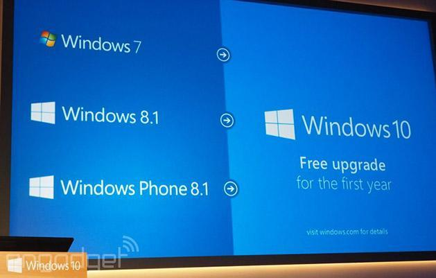 Windows 10 is a free upgrade for all 7 and 8.1 users (update: RT too)