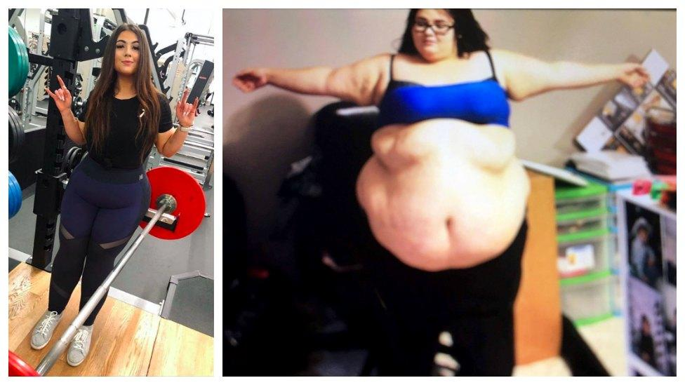 Woman reveals her incredible 83kg weight loss