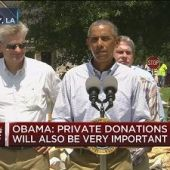 Obama in flood-ravaged Louisiana: 'I don't worry too much about politics'