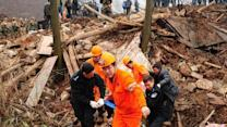 Raw: Search for Survivors After China Landslide