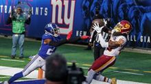 Giants and Judge finally win, beat Washington on fumble TD