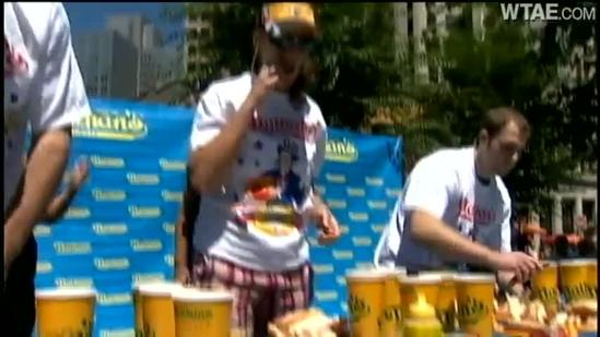 Market Square hosts Nathan's hot dog-eating contes
