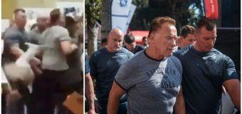 Arnold Schwarzenegger drop-kicked by 'crazed' fan