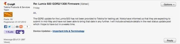 Telstra says Windows Phone 8 GDR2 update should reach testing in mid-May