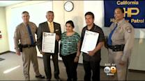 2 Men Hailed As Heroes For Saving Woman From Fiery Crash In Riverside