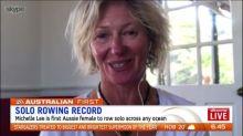 Michelle Lee breaks solo rowing record