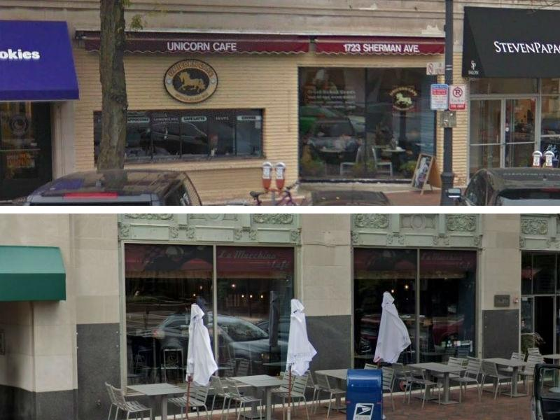 Two restaurants in downtown Evanston, Unicorn Cafe at 1723 Sherman Ave., and La Macchina at 1620 Orrington Ave., closed permanently this week.