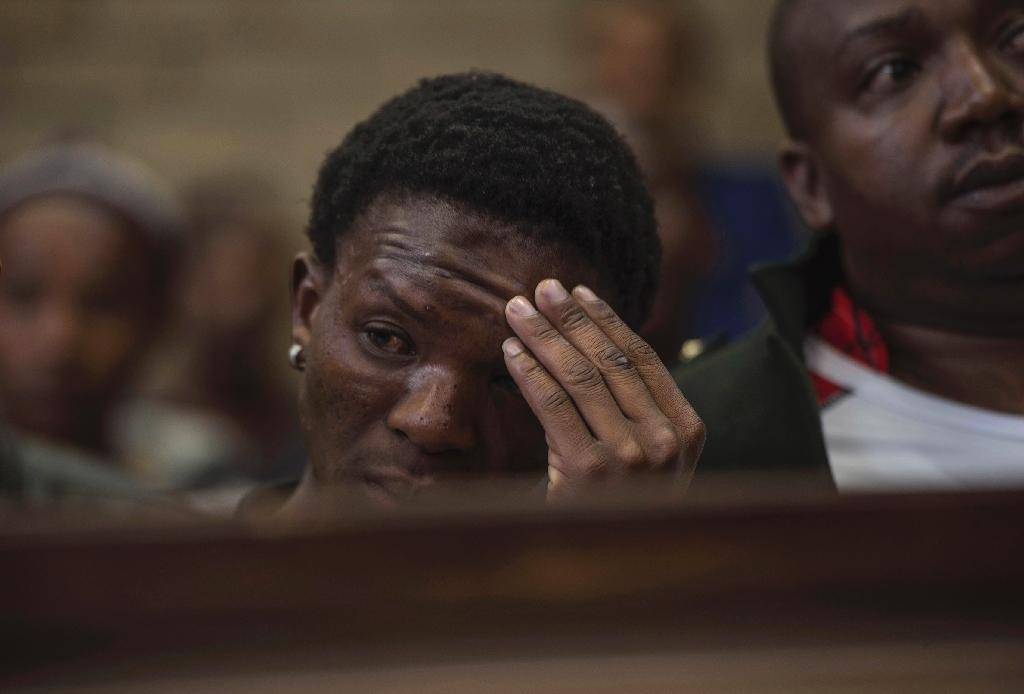 Two white farmers were found guilty of the attempted murder of Victor Mlotshwa after forcing him into a coffin (AFP Photo/MUJAHID SAFODIEN)