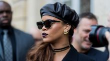 Rihanna took the glitter trend to a whole new level at a Coachella party last night