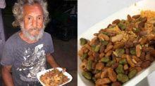 Morador de rua pede comida e recebe ração de cachorro