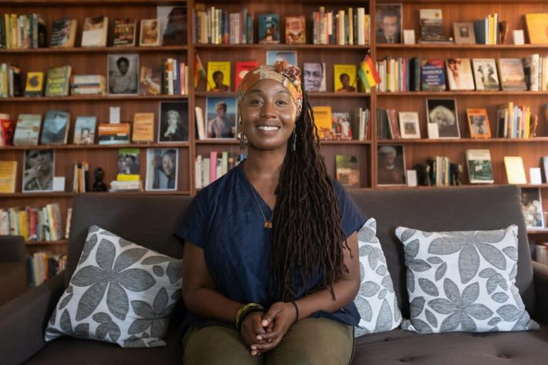 Sylvia Arthur founded the library in 2017 (AFP Photo/Nipah Dennis)