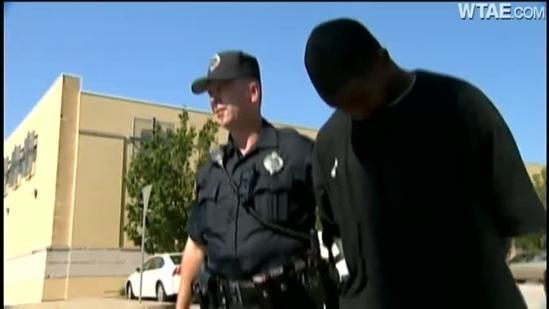 Robber gets trapped inside Citizens Bank
