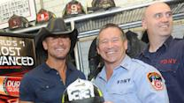 Tim McGraw Honors First Responders in New York