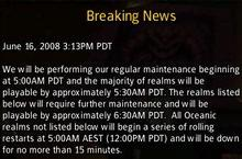 Maintenance for June 17th will be short