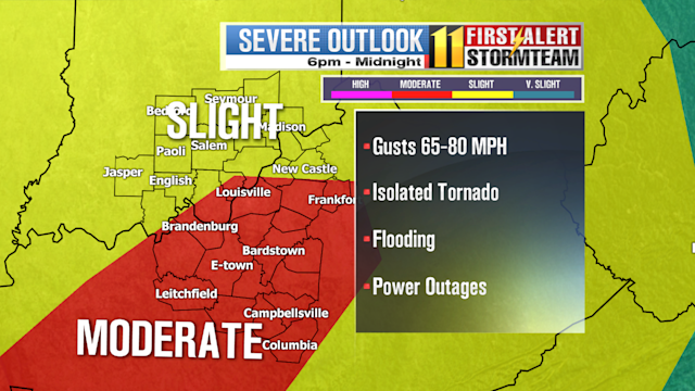 Tornado Watch issued for Kentuckiana through midnight