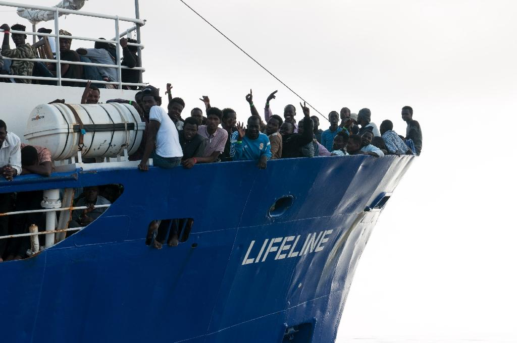 Migrants rescued trying to cross the Mediterranean to Europe -- an issue seized on by hardline politicians riding a wave of resurgent nationalism