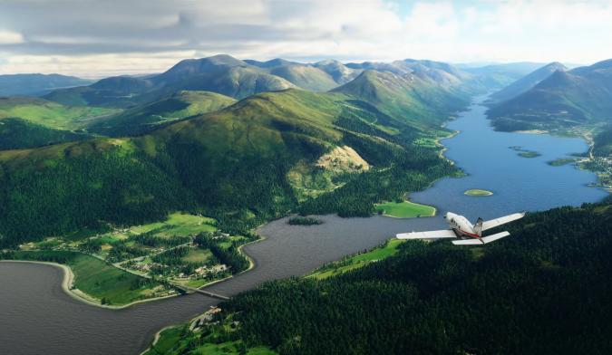 Loch Leven in Microsoft Flight Simulator