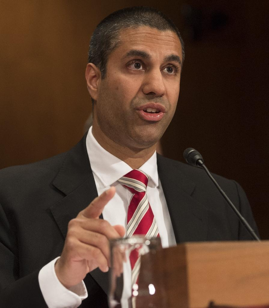 """Chairman Ajit Pai of the Federal Communications Commission claims his plan to roll back """"net neutrality"""" rules would encourage investment and innovation (AFP Photo/SAUL LOEB)"""