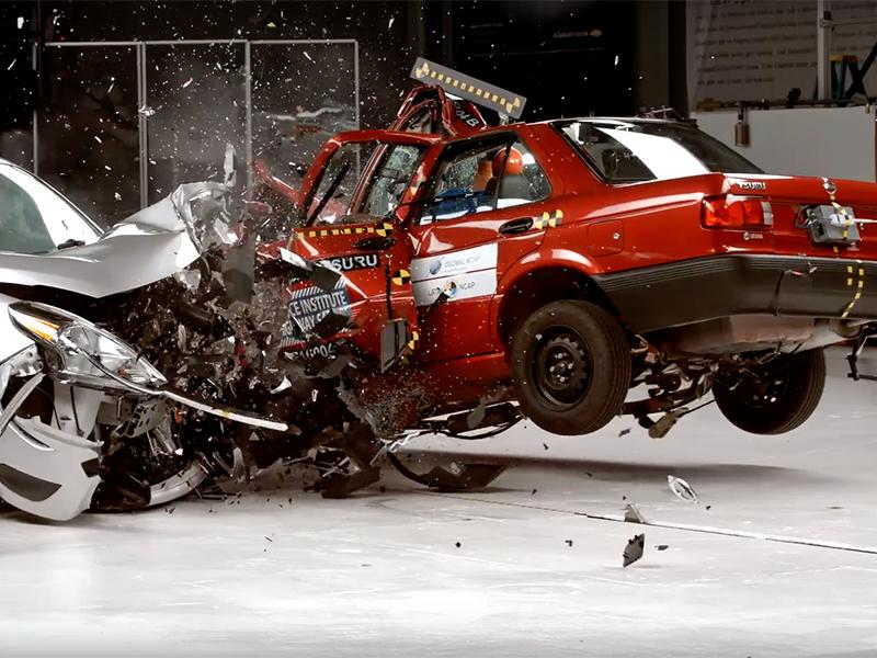 Nissan Tsuru Vs. Sentra Crash Test Shows Why You Shouldn't ...