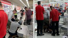'Wild times': Man allegedly attacks Coles staffer with stick