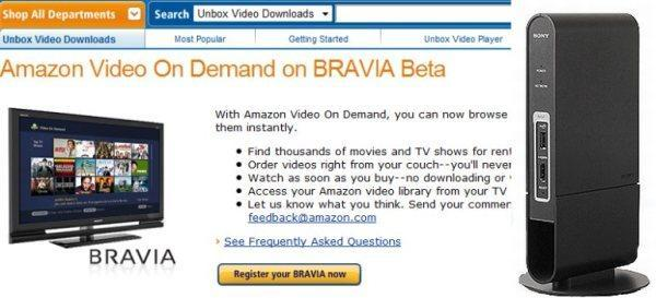 Amazon Video on Demand for BRAVIA Internet Video Link open for business?