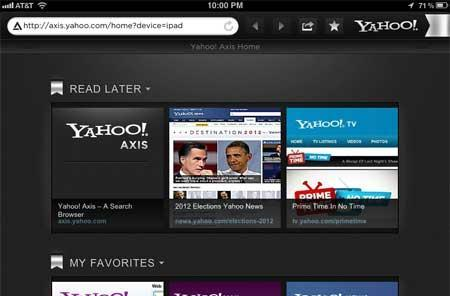 Yahoo! Axis delivers synchronized browsing for iPad and desktop