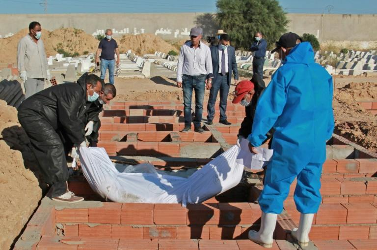 Migrants who perished en route to Europe were buried in a Muslim cemetery near Sfax, in numbered and indexed graves, in case one day someone should come to claim them or discover their fate (AFP Photo/Hamdi ZAGHDANE)