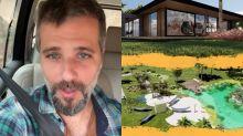 """Bruno Gagliasso vai replantar 3 mil árvores em rancho: """"Tá ficando lindo"""""""