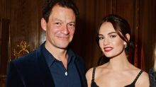 Downton Abbey's Lily James and married Dominic West lock lips