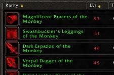 Item suffixes in the Burning Crusade