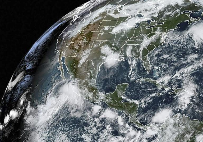 Lorena is shown on September 19 in this satellite image obtained from NOAA/RAMMB
