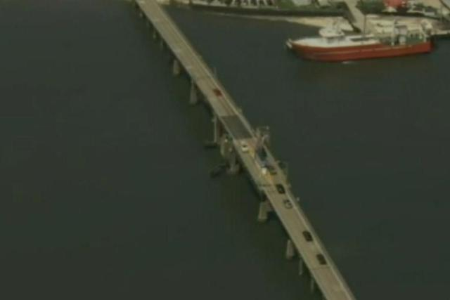 The Middle Thorofare Bridge reaches a height of 65ft: NBC10