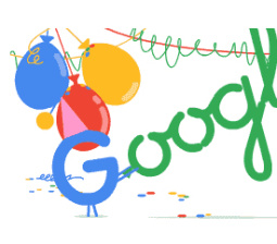 Happy Birthday Google: the search engine celebrates 18 with a new doodle