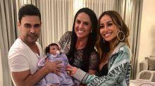 Graciele Lacerda e Zezé Di Camargo ganham boneca híbrida: 'Nossa filhinha'