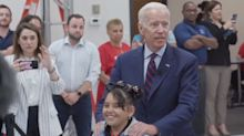 'I'll bet you're as bright as you are good-looking': Joe Biden called out for 'inappropriate' comment at town hall