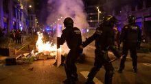 Ausschreitungen bei Protesten gegen Corona-Maßnahmen in Barcelona