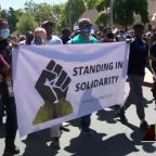 Sacramento police chief, mayor join community in George Floyd solidarity walk