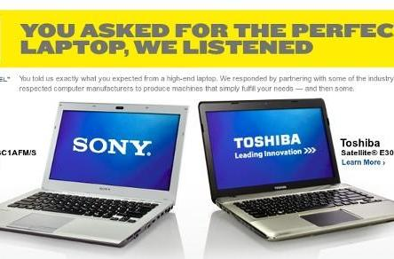Best Buy slaps Blue Label on Sony and Toshiba laptops, packed to the exhaust vents with extras