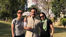 Check out: Kareena Kapoor Khan, Saif Ali Khan and Karisma Kapoor laze around in Pataudi palace