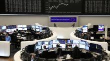 European stocks edge down on Brexit, trade war fears