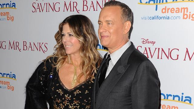 Tom Hanks And Rita Wilson Dish On Dealing With Tom's Facial Hair For 'Saving Mr. Banks'
