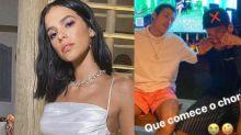 Neymar e Bruna sofrem em live de Marília Mendonça