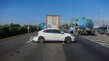 國道一號嘉義段連環撞2人傷