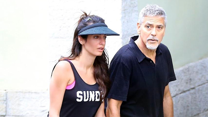 There's something very surprising about Amal Clooney's tennis outfit