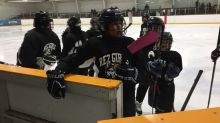 They didn't win — but they don't mind: Girls from remote First Nation play in 1st hockey tournament