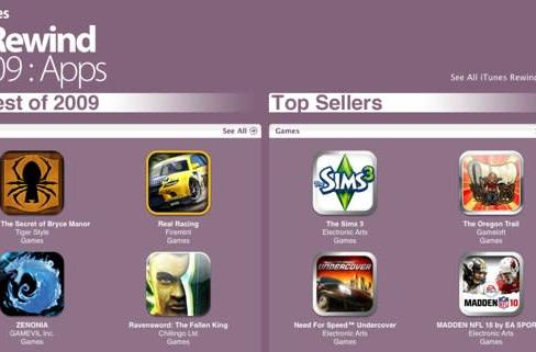 And the best-selling, top-rated iPhone games of 2009 are ...